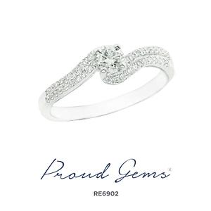 6902RE W 300x300 - แหวนหมั้นเพชร RE6902