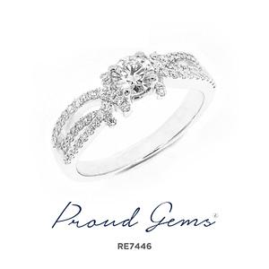 7446RE W 300x300 - แหวนหมั้นเพชร RE7446