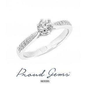 9395RE W 300x300 - แหวนหมั้นเพชร RE9395