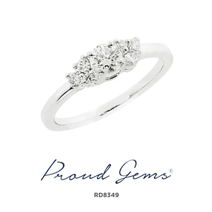 8349RD W 300x300 - แหวนเพชร  RD8349