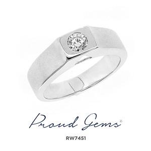 7451RW W 300x300 - แหวนหมั้นผู้ชาย RW7451