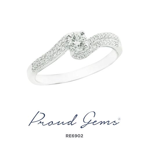 6902RE W 510x510 - แหวนหมั้นเพชร RE6902