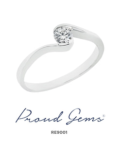 9001RE W 247x296 - แหวนหมั้นเพชร RE9001